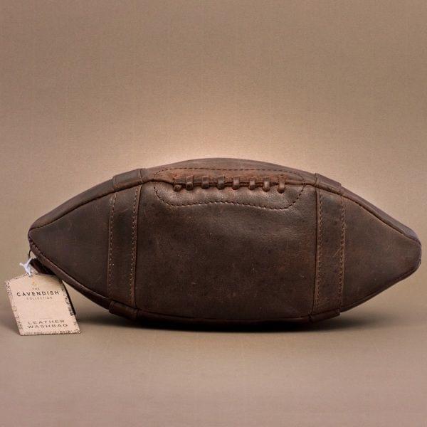 """Leder-Kulturbeutel """"American Football"""""""