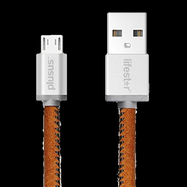 PU-Leder Ladekabel mit Micro USB Anschluss