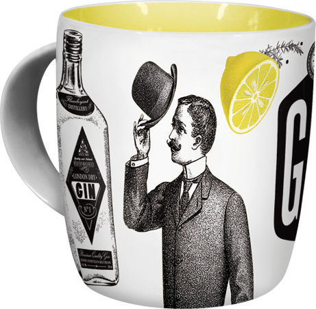 """Tasse """"It is the right time for a Gin Tonic"""""""