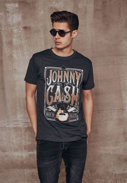 "Johnny Cash T-Shirt ""Man In Black"""