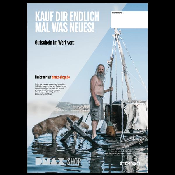 """Hochwertige Gutschein-Karte """"Kauf Dir mal was Neues"""""""
