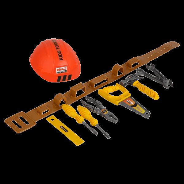 DMAX Kids Tools Werkzeuggürtel mit Helm (10-teilig)