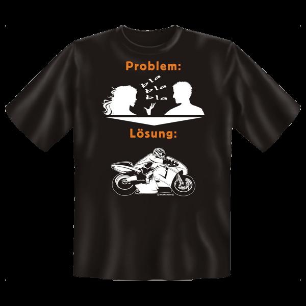 """T-Shirt """"Problem-Lösung-Biken"""""""