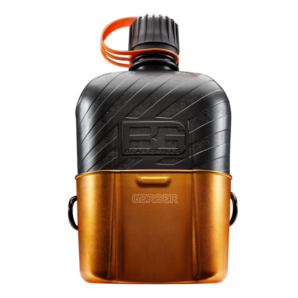 Bear Grylls Feldflasche mit Kochgefäß