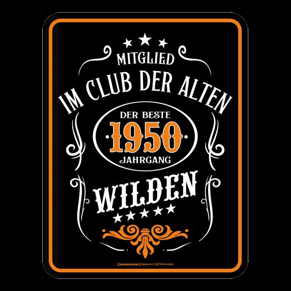 """Blechschild """"Alte Wilde 1950"""""""