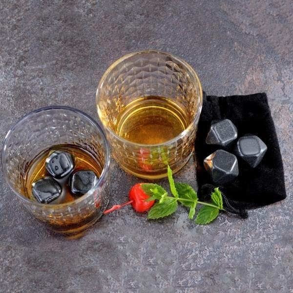 6 Whiskey-Kühlsteine aus Marmor