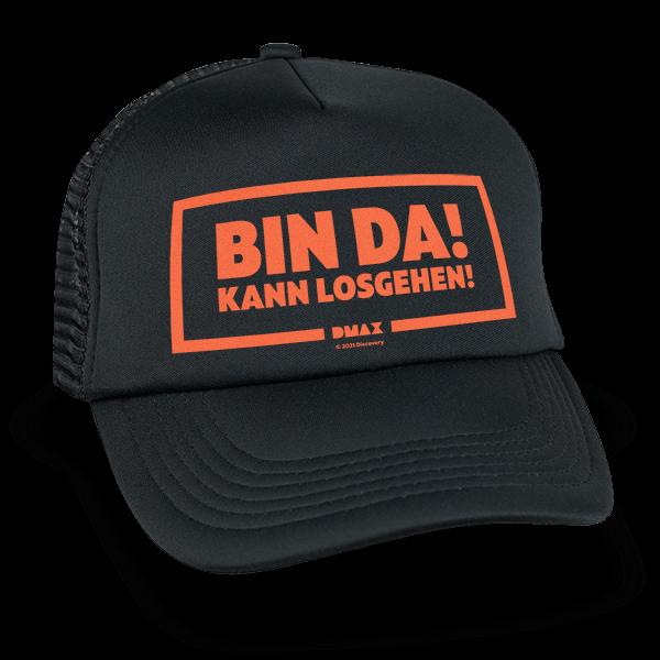 """DMAX Trucker-Cap """"Bin da – kann losgehen"""""""