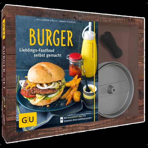 Burger-Set (Buch und Burgerpresse)