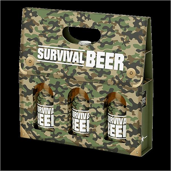 """Männerkoffer """"Survival Beer"""" (3 Bierflaschen im Tragerl)"""