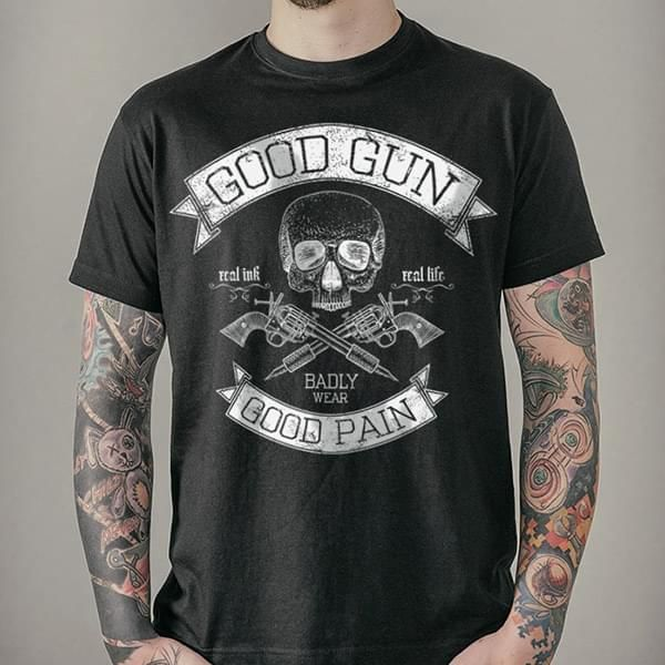 "T-Shirt ""Good Gun Good Pain"""