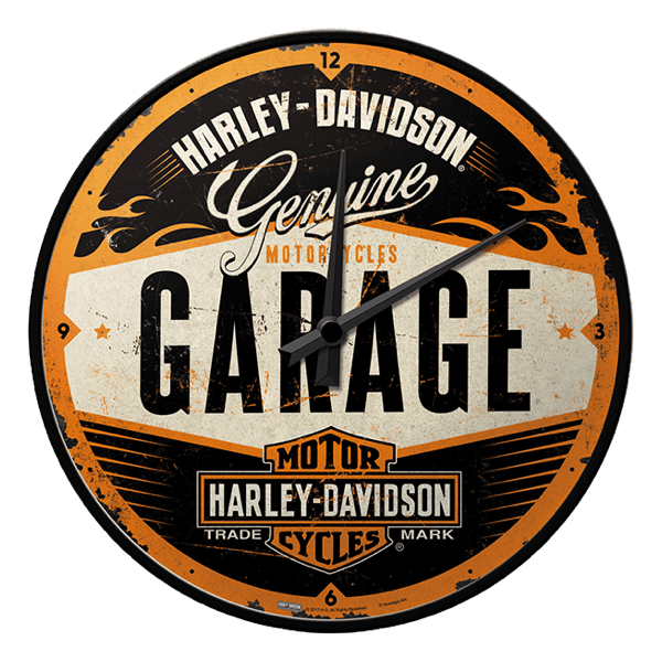 """Wanduhr """"Harley-Davidson Garage"""""""
