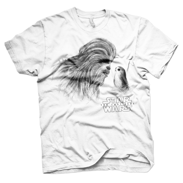 "Star Wars T-Shirt ""Chewbacca & Porg"""