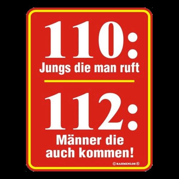 """Blechschild """"112"""""""