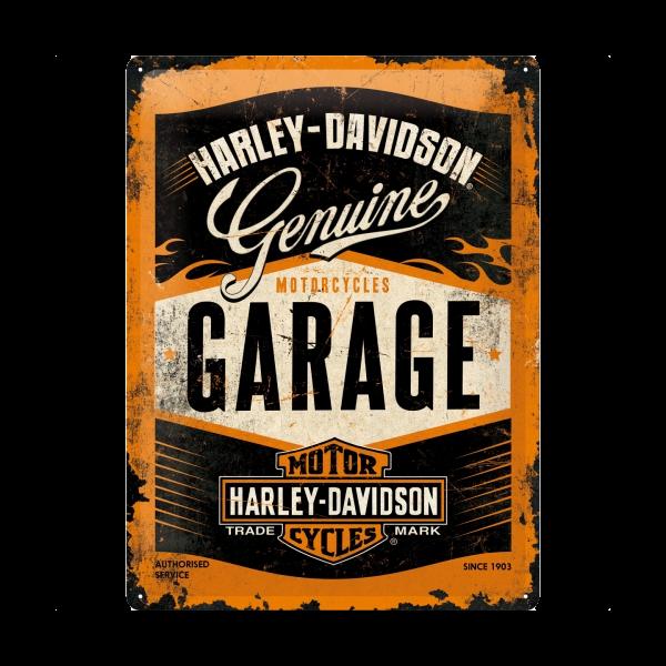 """Blechschild """"Harley-Davidson Garage"""" (30 x 40 cm)"""