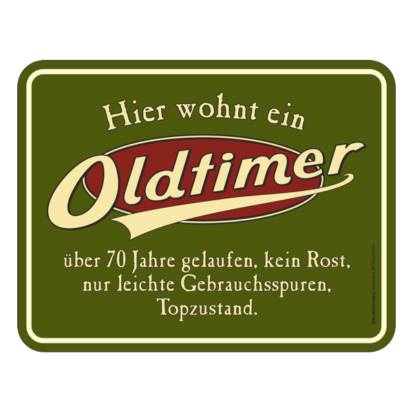 """Blechschild """"Oldtimer"""" 70"""