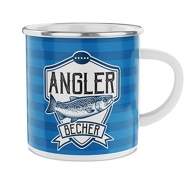"Emaille-Becher ""Angler"""