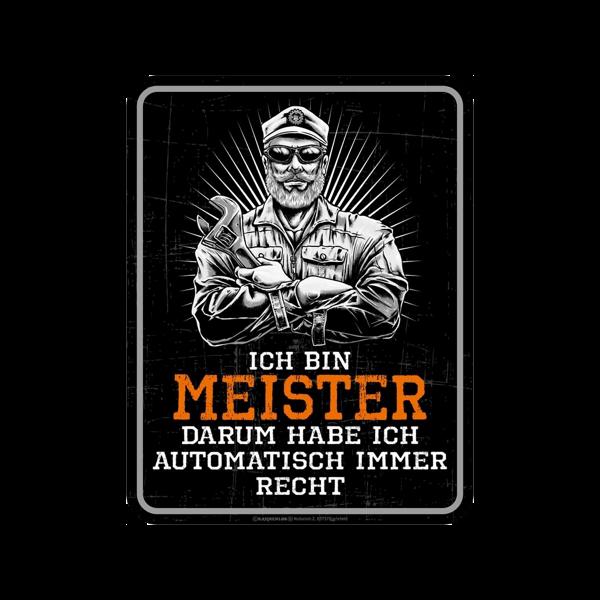 """Magnetschild """"Ich bin Meister"""""""