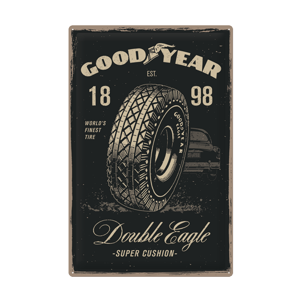 "Goodyear Blechschild ""Double Eagle"""