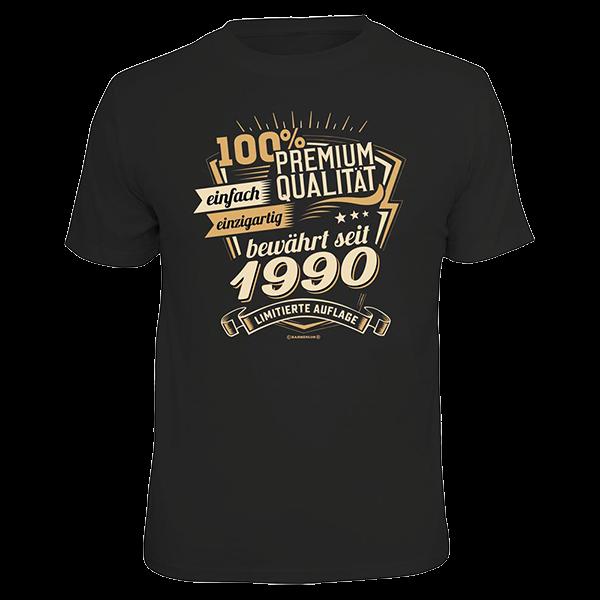 """T-Shirt """"Premium Qualität seit 1990"""""""
