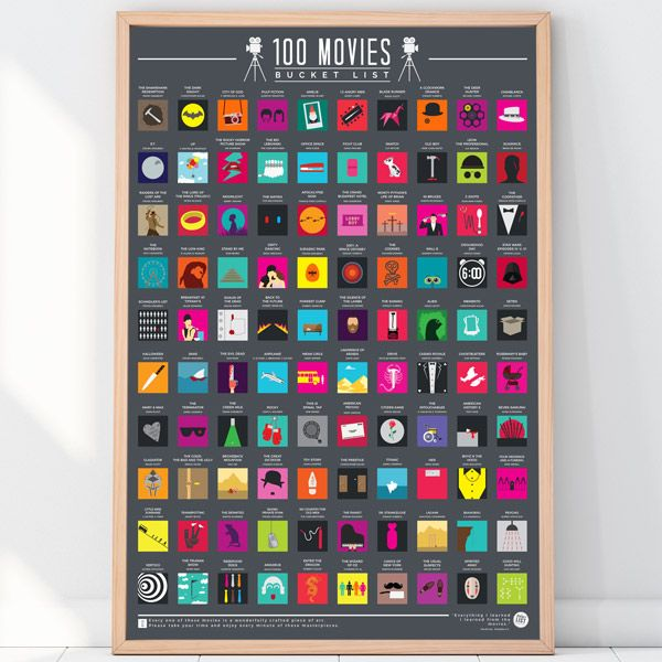 "Rubbel-Poster ""100 Movies - Bucket List"""