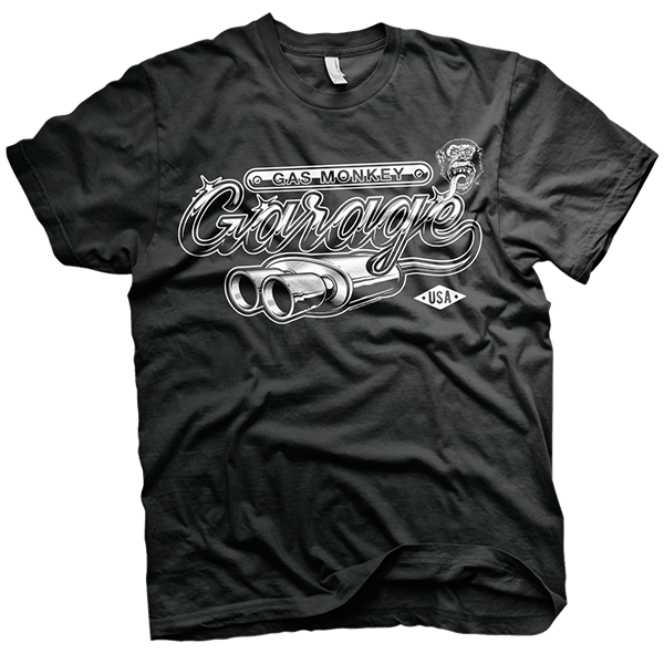 "Gas Monkey Garage T-Shirt ""Exhaust"""
