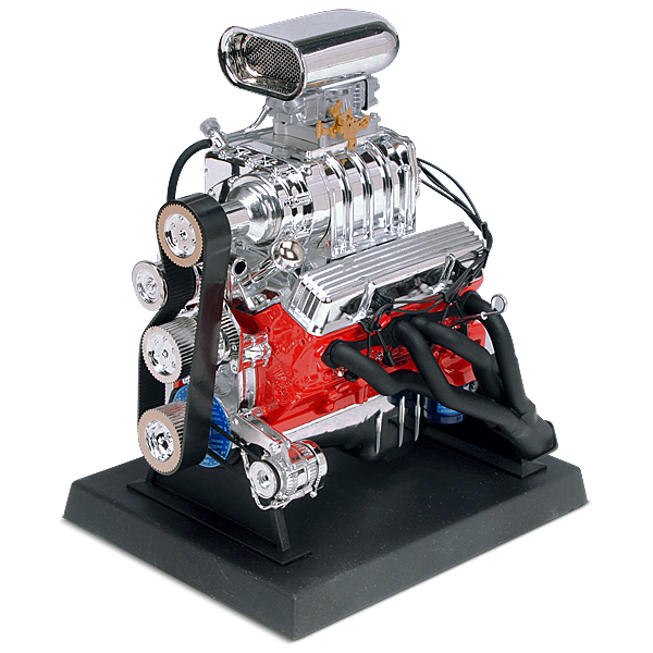 Standmodel eines Chevrolet Hot Rod Motors