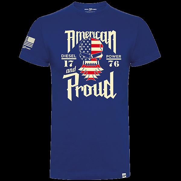 "Diesel Power Gear T-Shirt ""American & Proud Flag"""