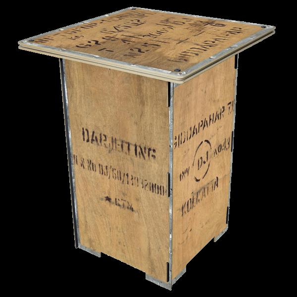 "Säulentisch ""Kiste"""
