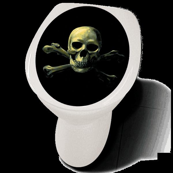 """Klodeckelaufkleber """"Skull"""""""