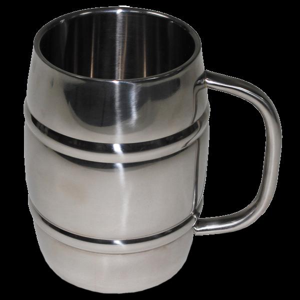 1-Liter-Maßkrug aus Edelstahl
