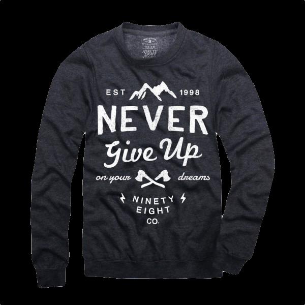 """Sweatshirt """"Never give up"""""""