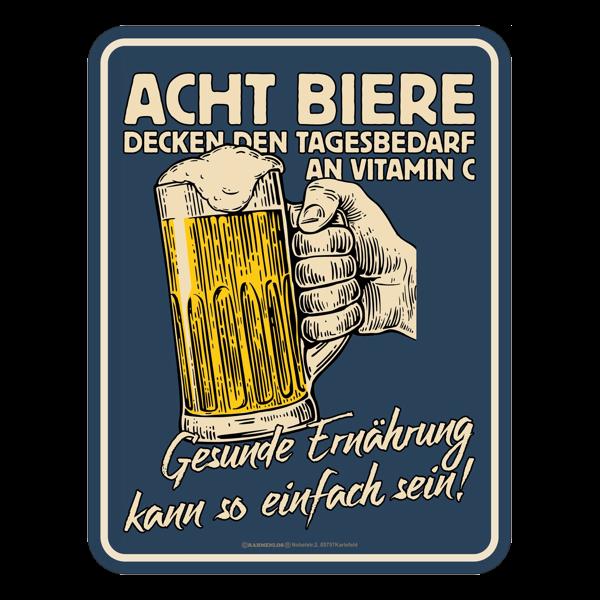 "Blechschild ""Acht Biere"""