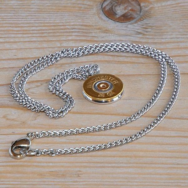 Halskette mit Kaliber .28 Gauge Brass Anhänger