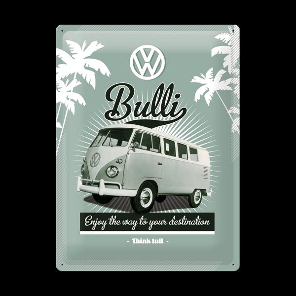 """Blechschild """"VW Bulli"""" 30 x 40 cm"""