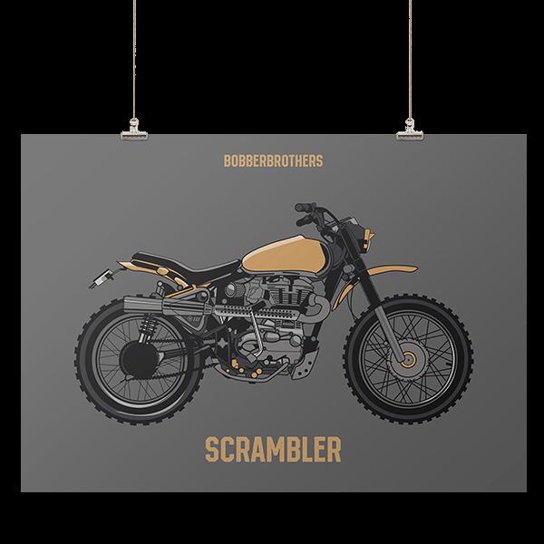 """Kunstdruck """"Scrambler"""" von Bobber Brothers"""