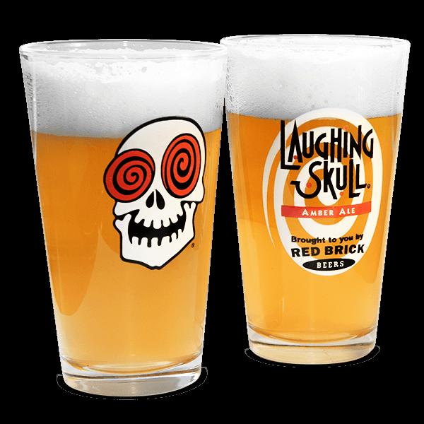 """Amerikanische Craft Bier Brauereigläser """"Laughing Skull"""""""