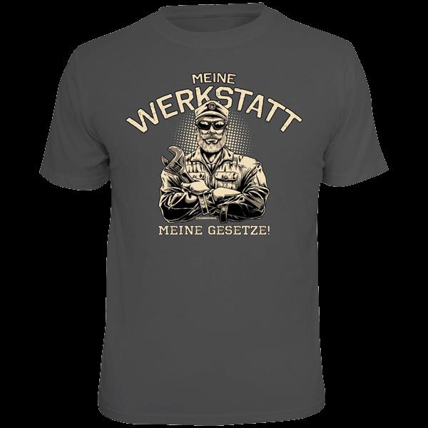 """T-Shirt """"Meine Werkstatt - meine Gesetze"""""""