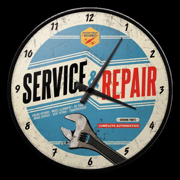 "Wanduhr ""Service & Repair"""