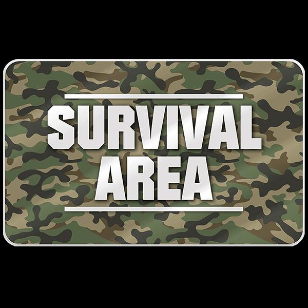 """Frühstücksbrett """"Survival Area"""""""
