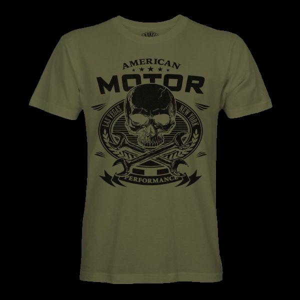"""T-Shirt """"American Motor – Skull"""""""