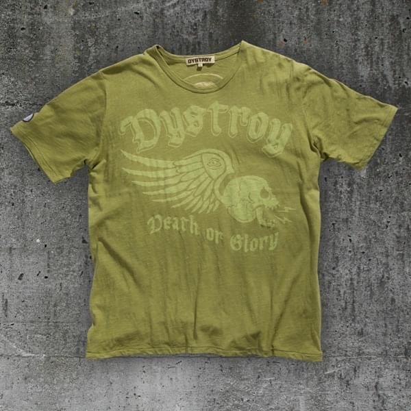 """T-Shirt """"Winged Skull"""" oliv (bis XXXL)"""