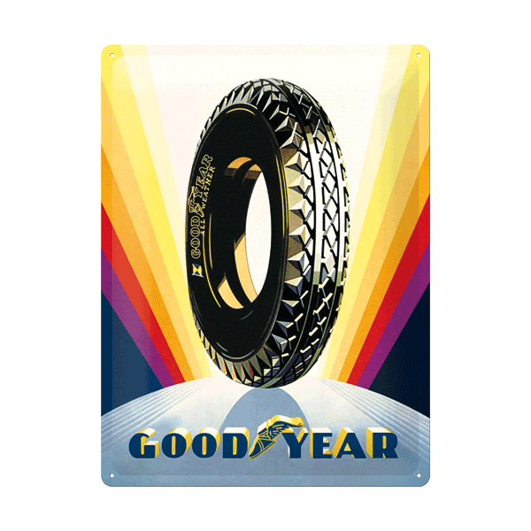 "Goodyear Blechschild ""Rainbow Wheel"""