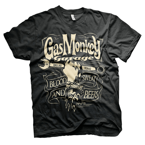 "Gas Monkey Garage T-Shirt ""Wrench Label"""