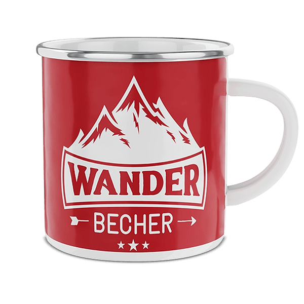 "Emaille-Becher ""Wanderer"""