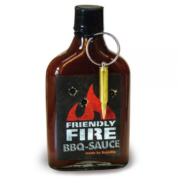 """Rauchige BBQ Sauce """"Friendly Fire"""" mit Schlüsselanhänger"""
