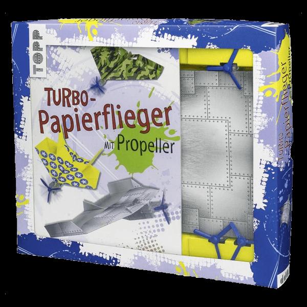 Turbo-Papierflieger mit Propeller