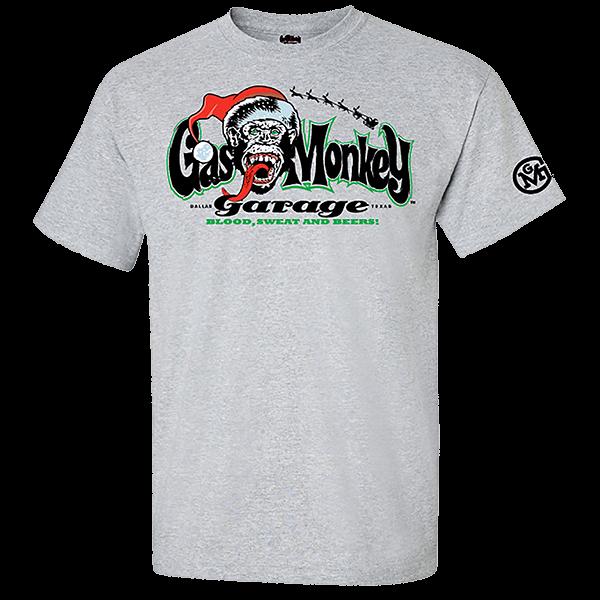 "Gas Monkey Garage X-Mas T-Shirt ""Santa Logo"""