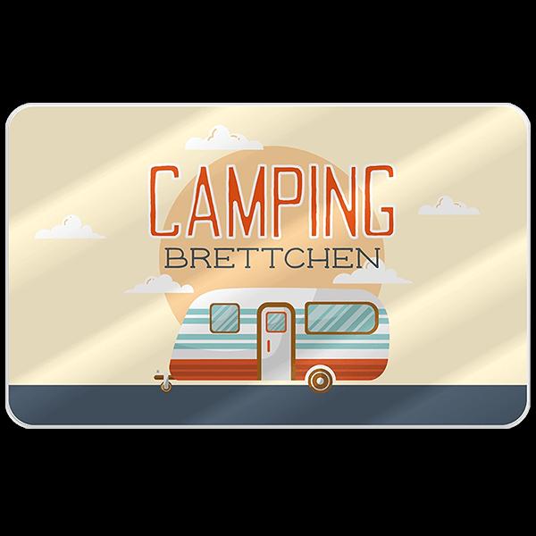 """Frühstücksbrett """"Camping"""""""