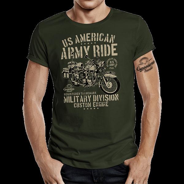 """T-Shirt """"Army Ride"""" von Gasoline Bandit"""