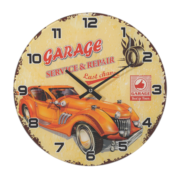 "Wanduhr ""Garage Service & Repair"""
